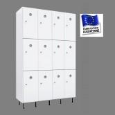 casier plastique pvc 4 colonnes 12 portes largeur 1200 mm