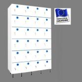casier plastique pvc 4 colonnes 24 portes largeur 1200 mm