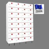 casier plastique pvc largeur 1200 mm 4 colonnes 32 cases