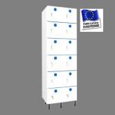 casier plastique pvc 2 colonnes 12 portes largeur 600 mm