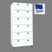 casier vestiaire plastique pvc 2 colonnes 12 portes largeur 800 mm