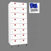 casier plastique pvc 2 colonnes 16 portes largeur 800 mm