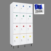 casier plastique pvc 3 colonnes 12 portes largeur 900 mm