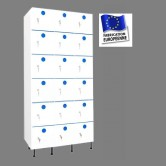 casier vestiaire plastique pvc 3 colonnes 18 portes largeur 900 mm