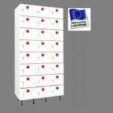 casier plastique pvc 3 colonnes 24 portes largeur 900 mm