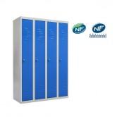 vestiaire metallique 4 colonnes industrie propre