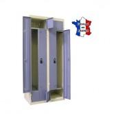 vestiaire metallique portes l ou z 2 colonnes 4 portes