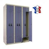 vestiaire métallique portes l ou z 3 colonnes 6 portes