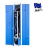 vestiaire metallique 3 colonnes 6 portes portes en l