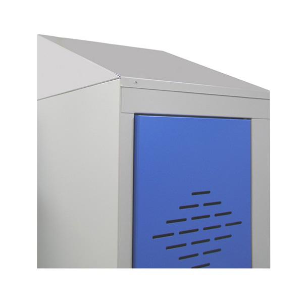 coiffes pour vestiaires et casiers m talliques coiffes inclin es pour vestiaires toits de. Black Bedroom Furniture Sets. Home Design Ideas