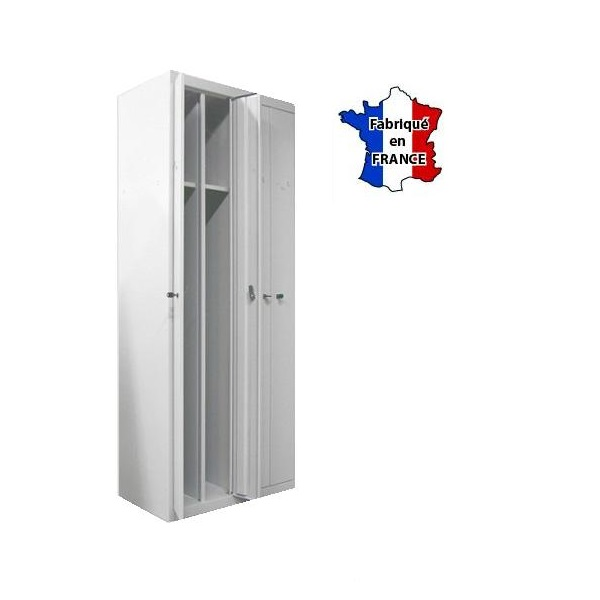 Vestiaire metallique de bureau casiers gains de place for Porte metallique de service