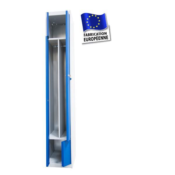 Vestiaire metallique duo double vestiaires vestiaire - Vestiaire metallique 1 porte ...
