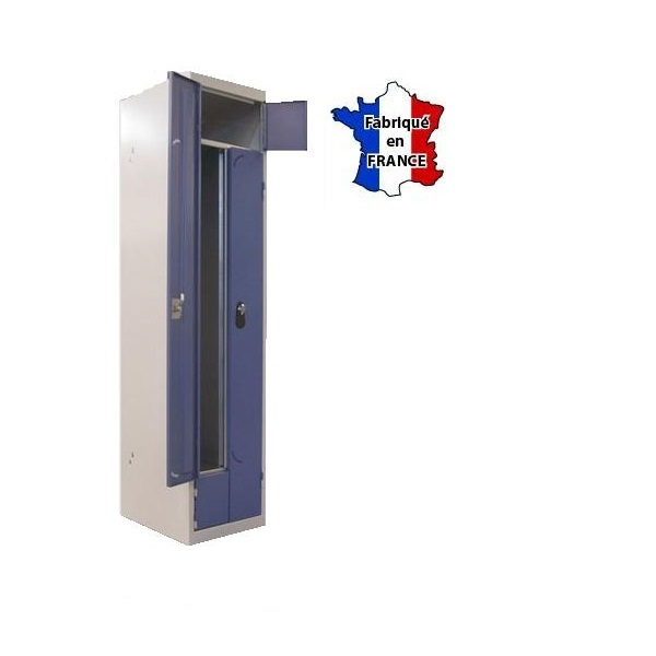 Vestiaire metallique duo double vestiaires vestiaire double deux vestiaires en un - Vestiaire metallique 1 porte ...